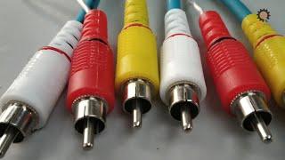 Nasıl ev yapımı AV {RCA} Kablolar en iyi kalite @