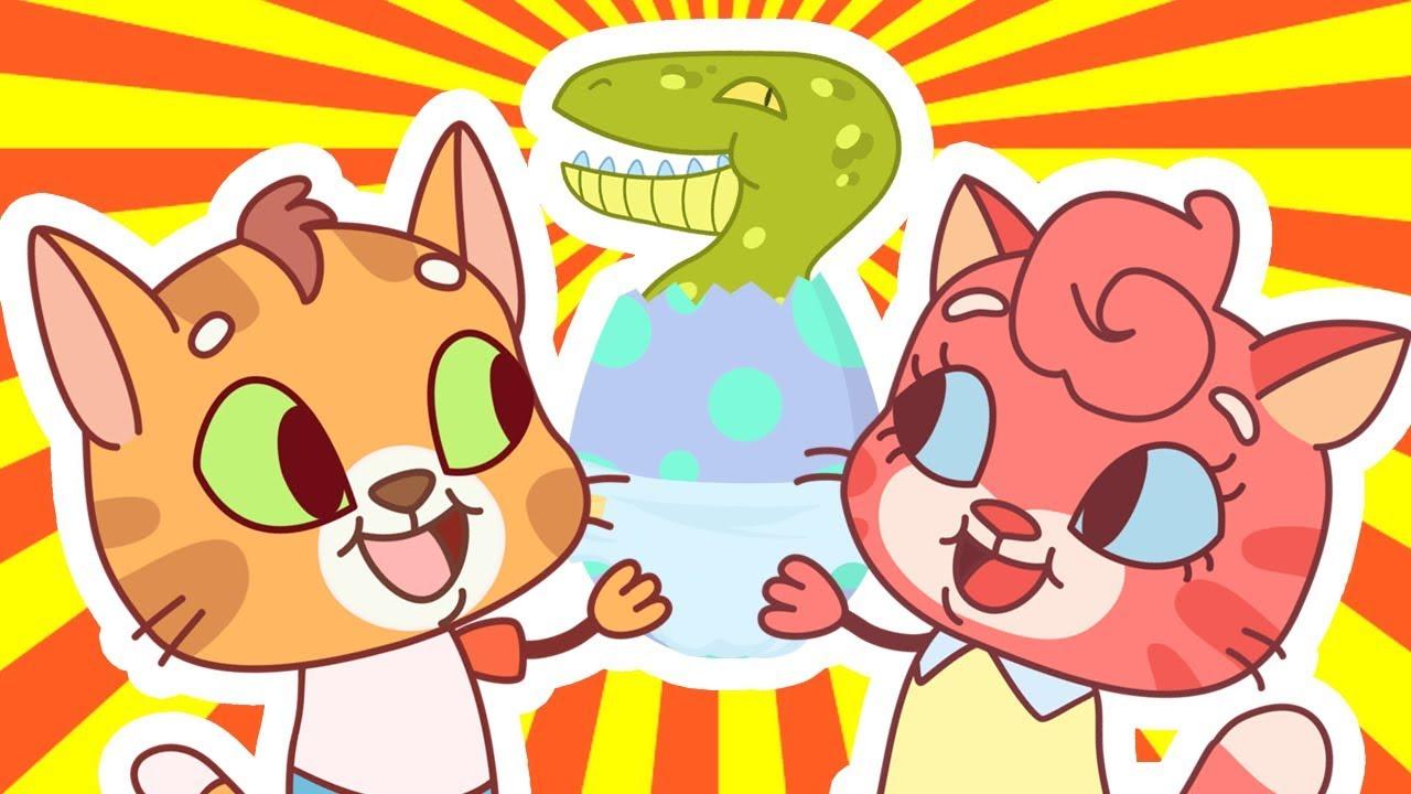 Cat Family | Cartoon for Kids | New Full Episodes #12 - My Own Pet Dinosaur