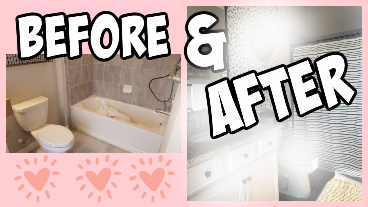 MAJOR BATHROOM MAKEOVER (REMODEL)! BEFORE + AFTER IS AMAZING! DIY EMMA AND ELLIE