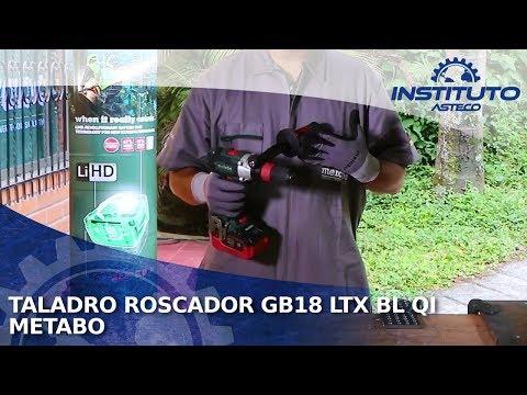 Demostración del Taladro Roscador Metabo GB18 LTX BL QI