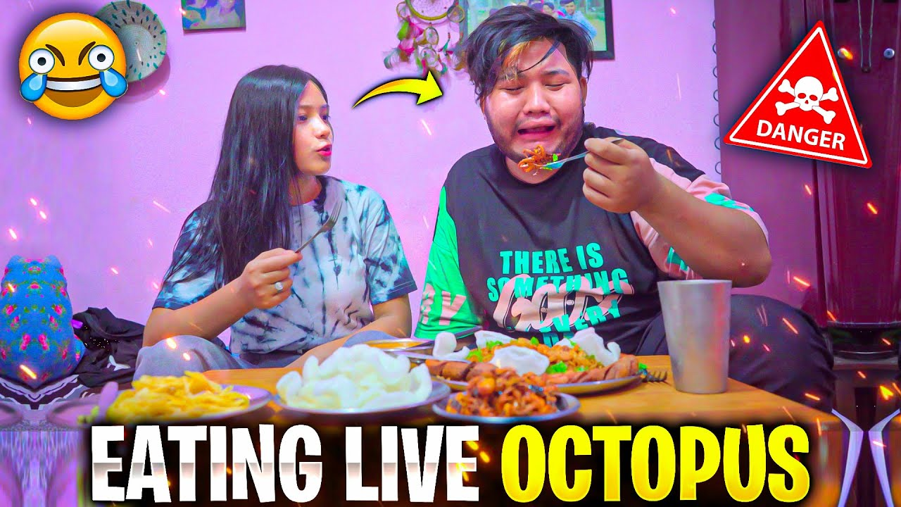 2B Gamer And Mikasa😯 Eating Live Octopus🐙 For First Time😨 ||Was It Taste ||Must Watch Full Video