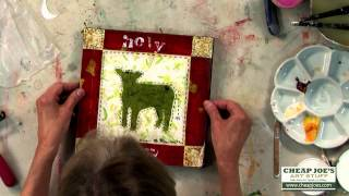 How To Apply A Print To A Painted Panel With Artist Susan Marlowe