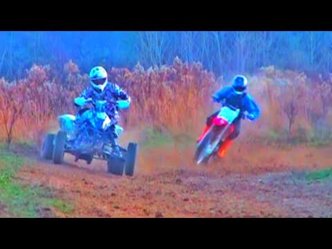 QUAD vs Dirt Bike!