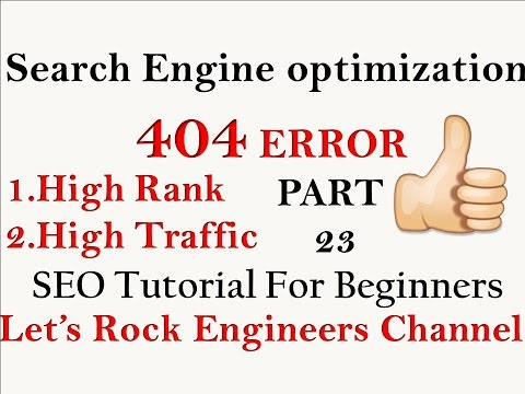 ERROR 404 in Search engine optimization - SEO For Beginners PART - 23 - 동영상