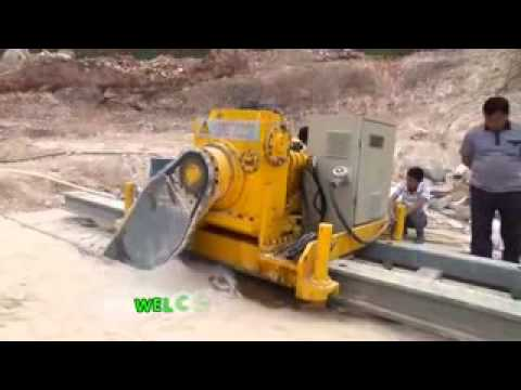 Arm Chainsaw Cutting Rock Stone Hydraulic System Chain