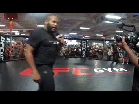 Daniel Cormier Kicks Jon Jones Fan Out of UFC 214 Open Workout