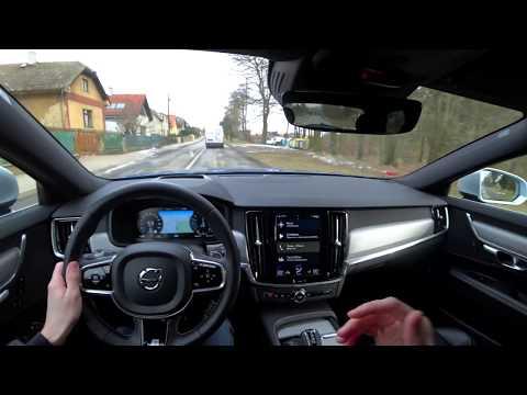 2018 Volvo V90 D5 Polestar, 4K POV TEST: Nádherná loď ze Švédska