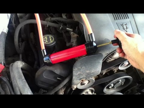 Hand pump Transmission Fluid out of dipstick tube - renew ATF