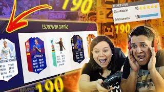 ELA FEZ O MELHOR DRAFT DA HISTÓRIA!!! FIFA 18 FUT DRAFT!!! 😍🔥