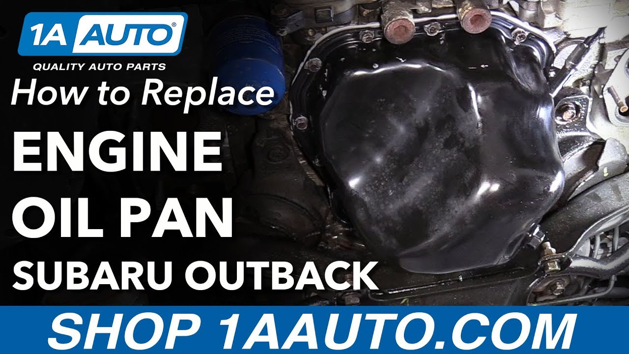 hight resolution of how to replace engine oil pan 04 08 subaru outback