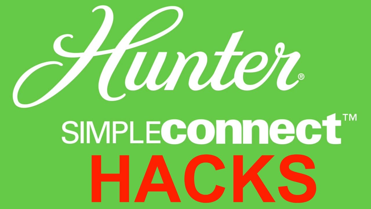 hunter simpleconnect control hacks! - youtube