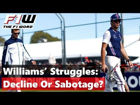 Are Williams In Decline, Or Is It Sabotage?