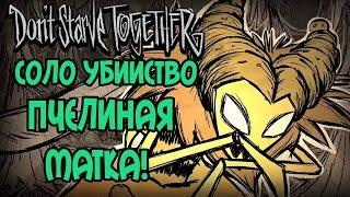 СОЛО УБИЙСТВО ПЧЕЛИНОЙ МАТКИ в Don't Starve Together!