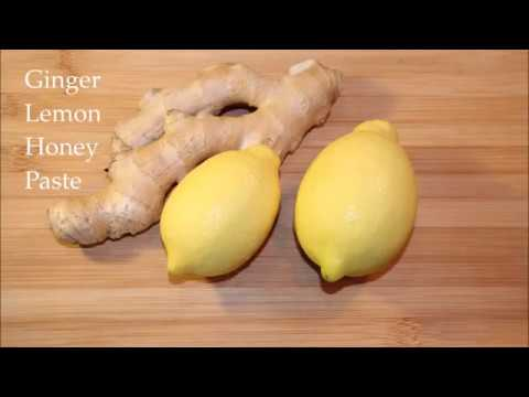 Ginger Lemon Honey Paste.