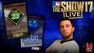 ROUND 2 GOLD TO DIAMOND PLAYER EXCHANGE SET & BASES LOADED PACKS - MLB THE SHOW 17 PACK OPENING thumbnail
