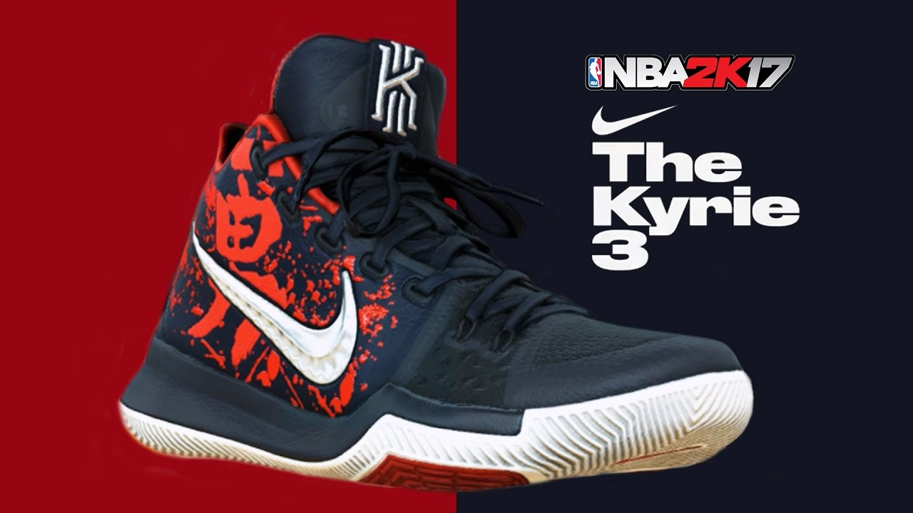 7df291aacae NBA 2K17  Nike Kyrie 3 Samurai - YouTube