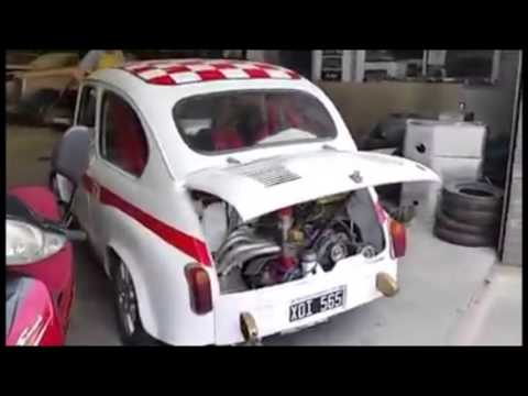 fiat 600 abarth test first run youtube. Black Bedroom Furniture Sets. Home Design Ideas