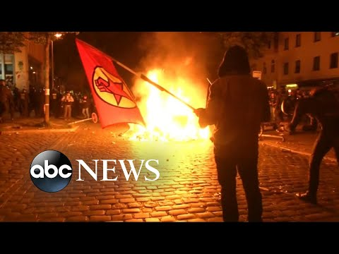 Protesters clash with police at G-20 summit