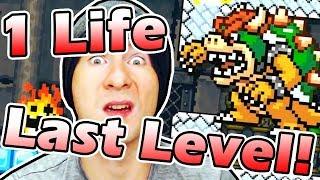 One life left on the last level... / Super Mario Maker SUPER EXPERT