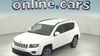 C97456NC Used 2014 Jeep Compass Limited 4WD White Test Drive, Review, For Sale