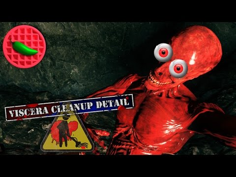 CTHULHU'S CLEANING CREW -- Let's Play Viscera Cleanup Detail (House of Horror DLC) (Co-op Gameplay) |