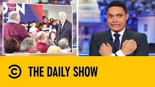 Biden Challenges Voter To A Push-Up Contest | The Daily Show With Trevor Noah
