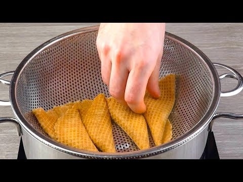 watch-what-happens-when-we-unroll-4-waffle-cones