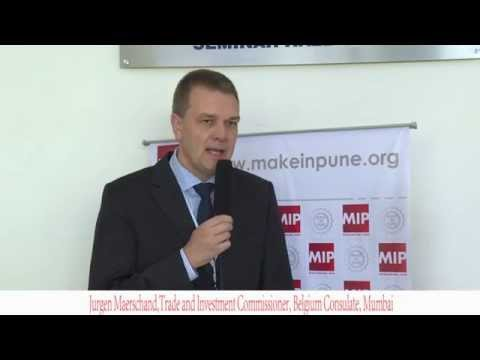 Make In Pune Launch: Jurgen Maerschand, Trade and Investment Commissioner, Belgium Consulate,