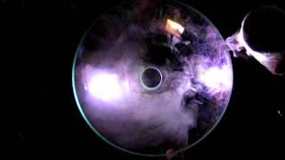 Liquid nitrogenium in a parabolic mirror
