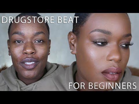 DRUGSTORE inexpensive makeup for BEGINNERS