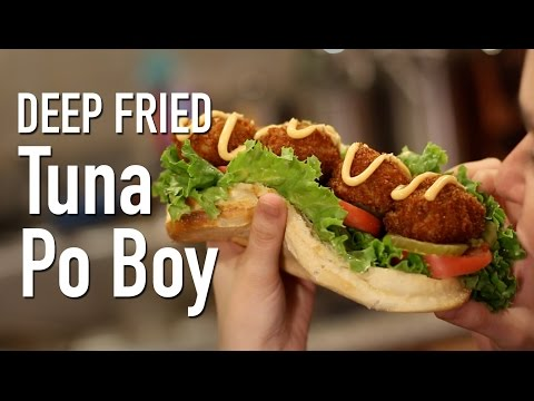 Deep Fried Tuna Fish Po Boy