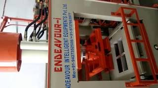 Automatic Fly Ash Bricks Machine (ENDEAVOUR-iF1200) Idle Trial Run