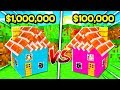 boy vs girl 1 000 000 smallest house challenge in minecraft brother vs sister