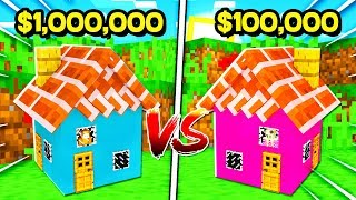 BOY vs GIRL $1,000,000 SMALLEST HOUSE CHALLENGE in Minecraft! (Brother vs Sister)