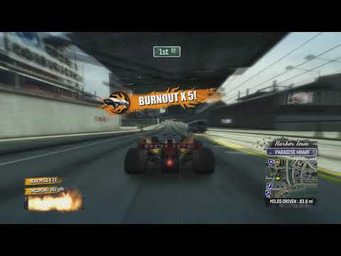 Burnout Paradise - F1 racing through downtown