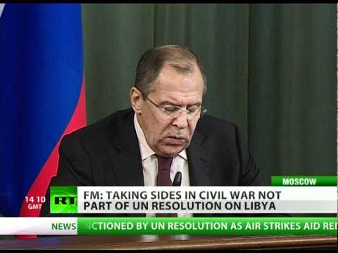 Russia: NATO takes sides, Libya offensive beyond protecting civilians