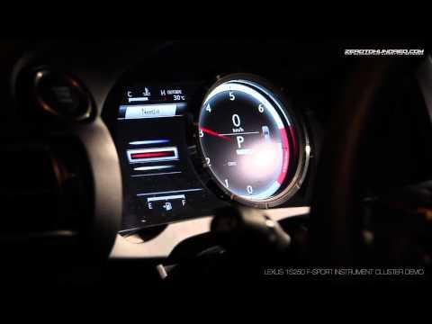 Lexus IS250 LFA inspired Instrument Cluster demo
