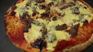 675 CALORIES PIZZA BURGER  !!!! 60G OF PROTEIN !!  HEALTHY RECIPE