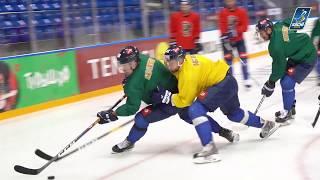 Раскатка перед первым матчем Sochi Hockey Open!