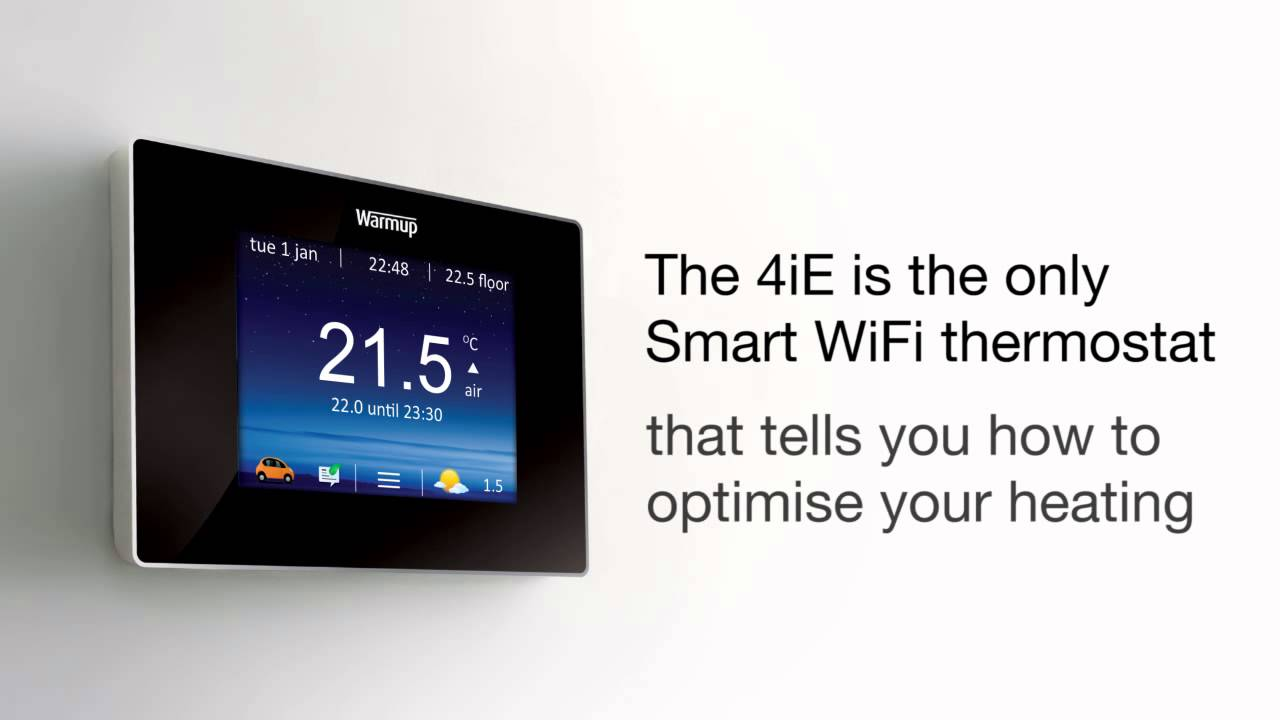 Warmup 4iE Smart WiFi Thermostat - YouTube