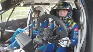 Oliver Solberg's second ever run at the Goodwood FoS Rally Stage!