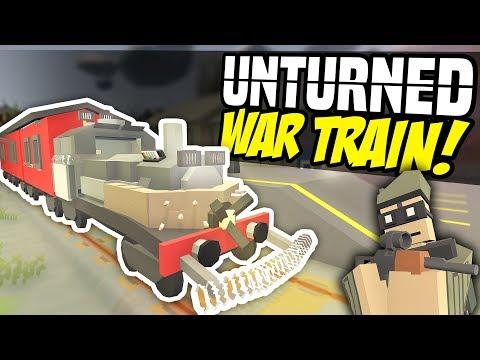 EPIC WAR TRAIN - Unturned Mobile Base | Bandits Try Stealing it!