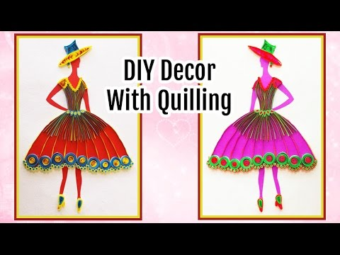 Diy wall decoration with quilling princess i do it yourself room diy wall decoration with quilling princess i do it yourself room decor ideas solutioingenieria Image collections