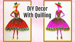DIY Wall Decoration With Quilling Princess I Do It yourself Room Decor Ideas