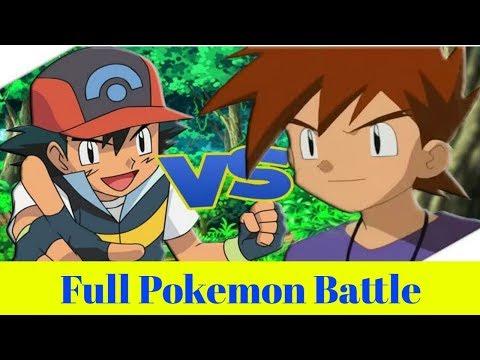 Ash Vs Gary Full Pokemon Battle In Hindi || YouTube Gaming Studio ||