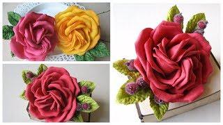 Красивая роза из фоамирана своими руками