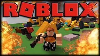 Playing Roblox-Destruction Simulator-exploding things and earning money!!