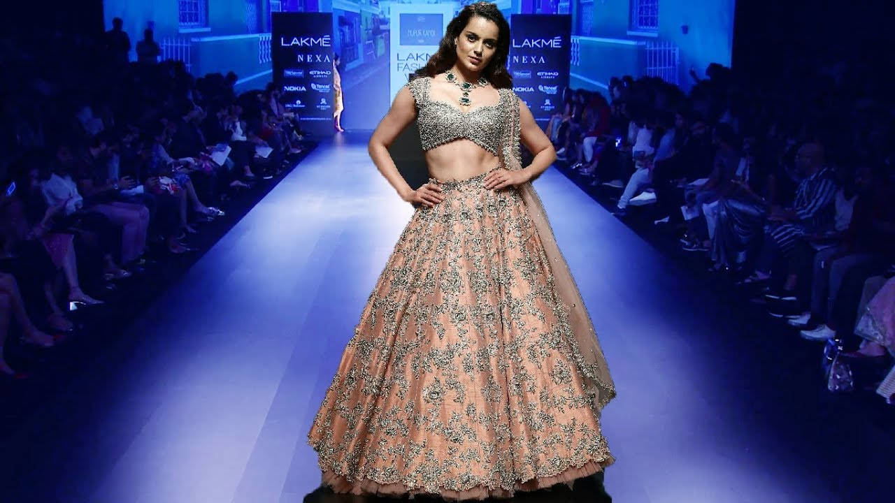 50b04092dd Weddings and Events Scenery  Kangana Ranaut Walks For Anushree Reddy ...
