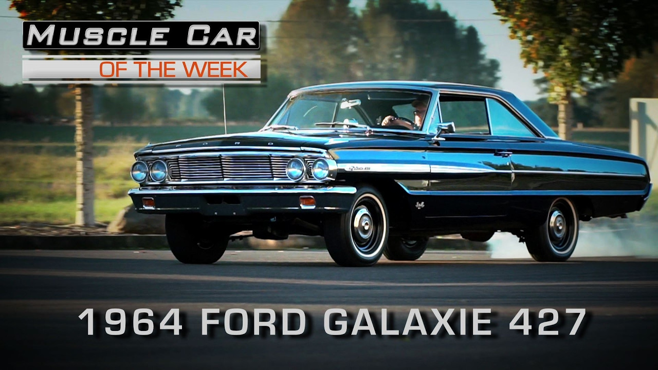 Muscle Car Of The Week Video Episode 190 1964 Ford Galaxie 500 427 Ltd Convertible 4 Speed R Code Youtube