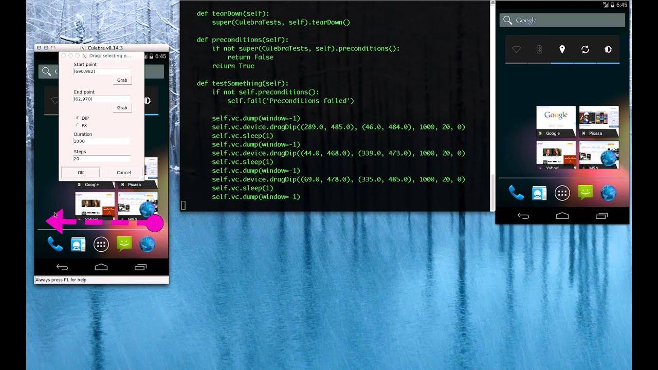 Culebra GUI: Android Launcher Tests: Grab (1080p)